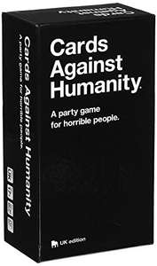Cards Against Humanity: UK edition for £15 - Sold by Cards Against Humanity, LLC. and Fulfilled by Amazon (£17.99 non Prime)