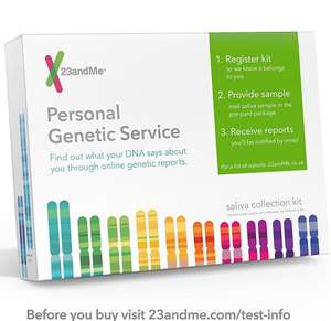 23andme Health + Ancestry Kit discounted on Amazon for £95.99 Sold by 23andMe UK and Fulfilled by Amazon