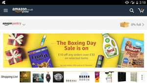Amazon pantry (Select items) - spend £30 get £10 off