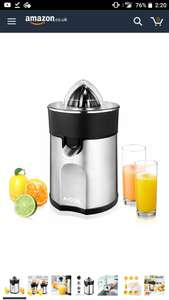 Electric Citrus Fruit Juicer stainless steel at Amazon for £23.99 Sold by Funnyhome and Fulfilled by Amazon