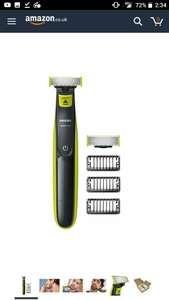 Philips OneBlade Hybrid Wet & Dry Trimmer & Shaver at Amazon for £29.99 + extra blade worth £10 for free