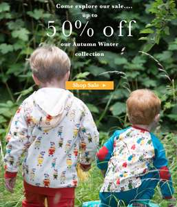 Up to 50% off @ little green radicals organic fair trade kids clothing