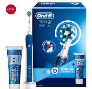 Oral-B Pro 2500 Blue Rechargeable Electric Toothbrush - ONLINE STOCK NOW AVAILABLE £20 @ Boots
