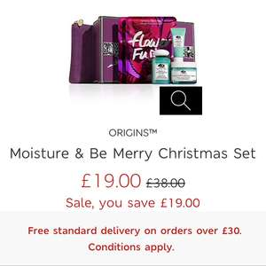 Origins Moisture & Be Merry Christmas Set half price £19 @ M&S