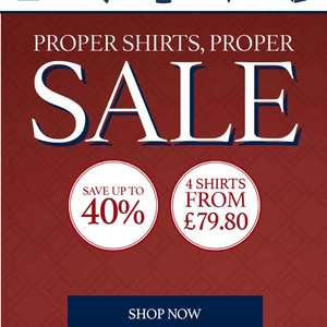 Charles Tyrwhitt good quality clothing - 4 shirts for £79.80