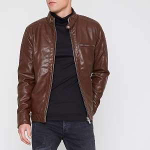 River island. Faux leather jackets various colours and sizes £30 @ River Island
