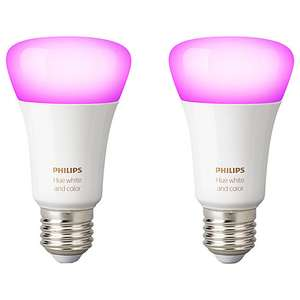 3 x pack of 2 Philips Hue White and Colour Ambiance Wireless Lighting LED Colour Changing Light Bulb, 9W A60 E27 Edison Screw Bulb £169.98 @ John Lewis