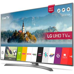 "LG 43UJ670V LED HDR 4K Ultra HD Smart TV, 43"" with Freeview Play & Crescent Stand, Grey £379 @ John Lewis"