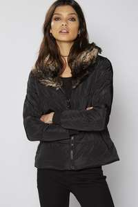 Be You Short Padded Jacket With Faux Fur Collar £9.99 From £60 (Free Delivery With Code 040 For New Customers) @ Studio.