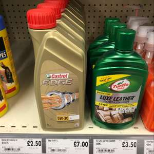 Castrol Edge 5W30 Life Long oil 1L for £7 @ Homebase