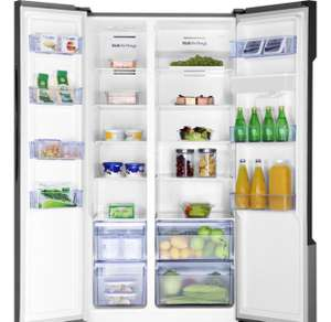 Fridgemaster MS91515DFF American Fridge Freezer - Silver £389 @ AO with code