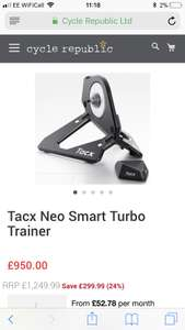 Tacx Neo Smart Trainer £855 @ Cycle republic