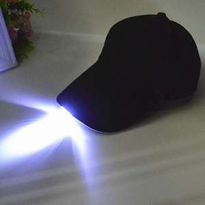 LED Light Baseball Cap - Black £2.26 del w/code @ RoseGal (Camping / Night Fishing?)