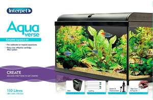 Interpet Aquaverse Glass Aquarium Fish Tank Premium Kit, 110 L now £99.99 Del @ Amazon