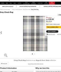 George check rug was originally £40 now £10