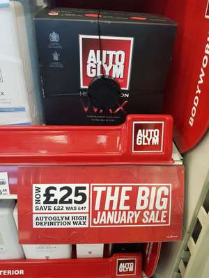 Autoglym High Definition Wax £25 In store @ Halfords