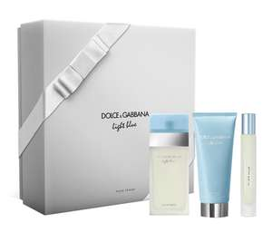 DOLCE&GABBANA light blue Eau De Toilette 50ml, Miniture 7.4ml & Body Cream 50ml Gift Set @BeautyBase for only £36.85 plus free sample