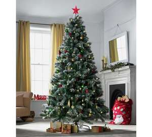 Heart of House 7ft Pre-lit Snow Tipped Christmas Tree reduced £25.99 at argos