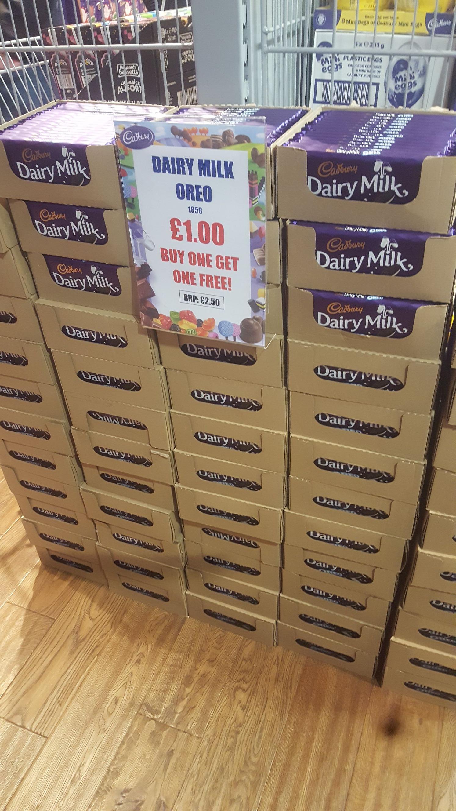 Cadbury Oreo 185g Bar Buy One Get One Free - £1 instore @ Cadbury's