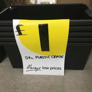 54l plastic create only £1 instore at Homebase