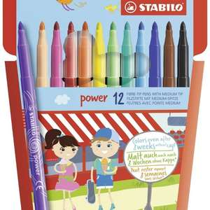 STABILO Power Felt Tip Pen - Wallet of 12, Assorted Colours £1.79 (add on item) Amazon