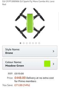 Dji spark fly more combo £448 @ Amazon - (Temporarily out of stock)