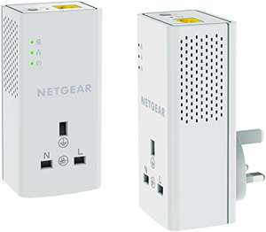 NETGEAR PLP1200-100UKS 1200 Mbps Powerline Ethernet Adapter Homeplug, Pass Through/Extra Outlet (1 Gigabit Ethernet Port) – Twin Pack £44.99 @ Amazon