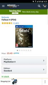 Fallout 4 Amazon prime for ps4 £9.49 prime / £11.48 non prime @ Amazon