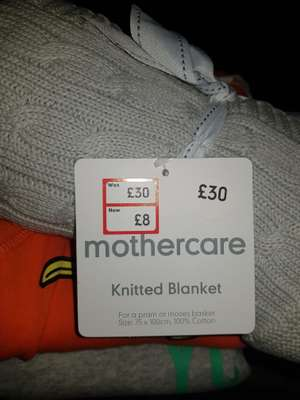 Mothercare knitted blanket £8 instore / online