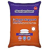 Slumberdown Super Support Pillow Pair £6 @ Tesco Direct (free c+c)