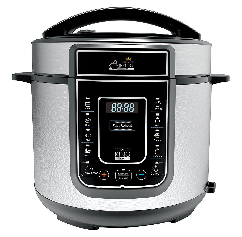 Pressure King Pro 5 Litre 12-in-1 Digital Electric Pressure Cooker, 900 W, Chrome £59.99 @ Amazon