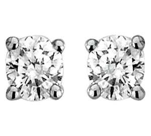 0.25 carat stud earrings dropped to £69.99 @ Argos