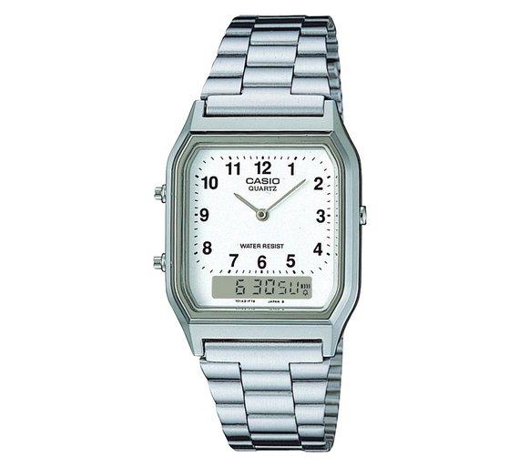 Casio Men's Stainless Steel Bracelet Watch Only £14.99 @argos
