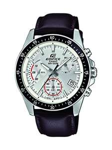 Casio Edifice EFV-540L-7AVUEF Men's Stainless Steel Chronograph with Leather Strap £43,70 @amazon