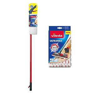 Vileda 1-2 Spray Microfibre Flat Spray Mop with Extra Microfibre Refill Pad, Red £17.59 Prime / £22.34 Non Prime @ Amazon