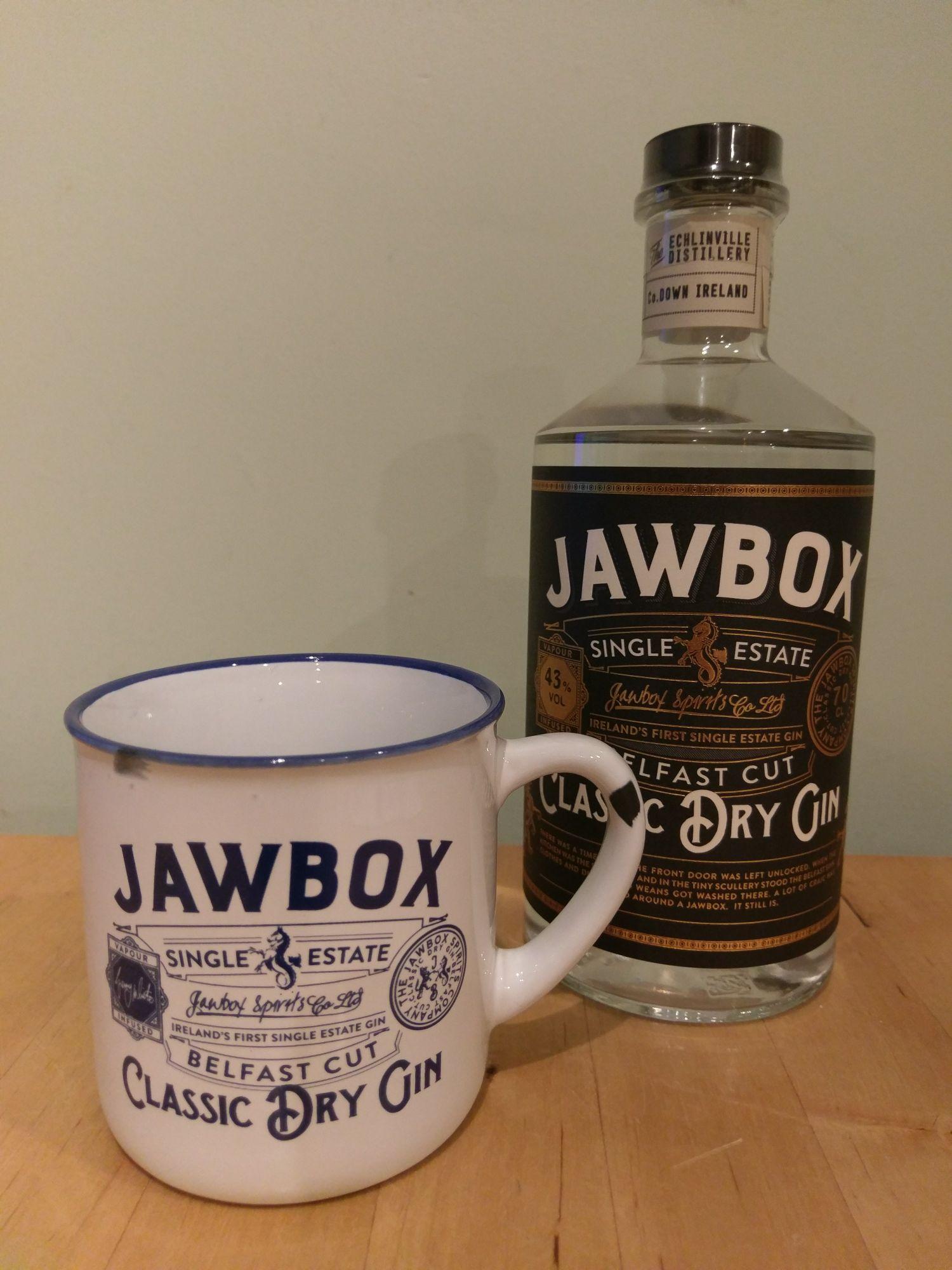 Jawbox Gin 70cl & free Jawbox ceramic mug £25.00