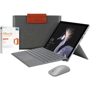 Microsoft surface pro with keyboard, home 365 and mozo sleeve £1169.10 from ao with voucher