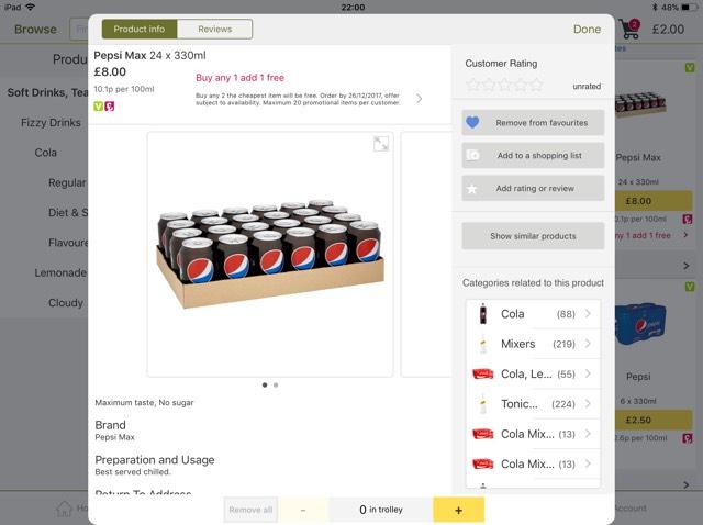 Buy 1 Get 1 free! Pepsi max  24 x 330ml  £8 at Ocado
