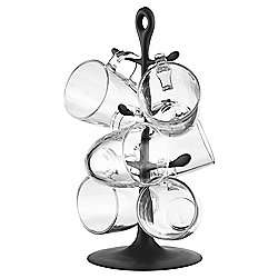 Bodum Mug Tree with 6 Bistro Glasses  £10 @ Tesco Direct