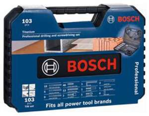 Bosch Professional Titanium Drill Bit and Screwdriving Set - 103 Piece £19.91 delivered @ CPC