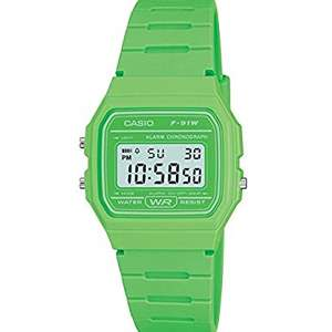 Green Casio F-91WC Digital Watch £10.99 Prime, £14.98 delivered @ Amazon