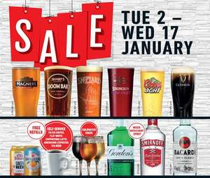 Wetherspoon's sale starts on 2nd January (3rd in Scotland)