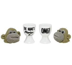 Monkey Egg Cup and Knitted Cosy Duo Set now £3.74 @ Argos