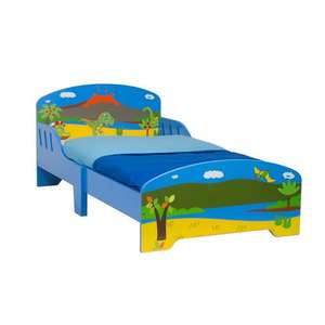 Dinosaur Wooden Toddler Bed now £39.99 + Free Delivery @ Smyths