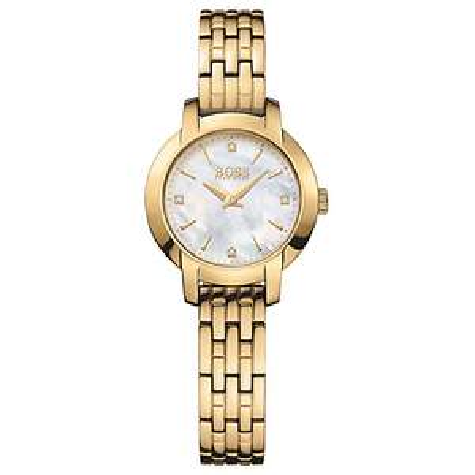 HUGO BOSS Women's Success Bracelet Strap Watch, Gold/Mother of Pearl @ John Lewis - £89.50