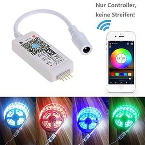 Mini RGB Wifi Smart Controller - with Sound Activated Static Color Changing for LED Strip Light - £8.98 Prime £12.98 Non Prime @ Sold by TOMSHOP. and Fulfilled by Amazon