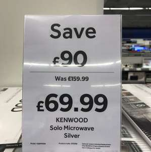 Kenwood Solo Microwave was £159 reduced to £69.99 instore @ Currys