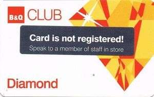 B&Q Diamond 10% discount card for over 60s
