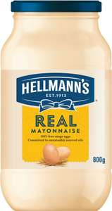 Hellmann's Real or Light Mayonnaise (800g) was £3.00 now Only £1.75: Save £1.25 @ Sainsbury's