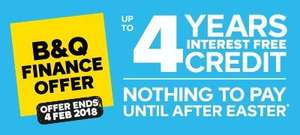 2, 3 & 4 years interest free credit on B&Q kitchens, bathrooms & bedrooms